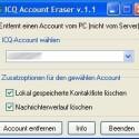 Sie möchten Ihren ICQ-Account auf einem Computer sauber entfernen, aber nicht das komplette Programm deinstallieren? Dabei hilft der Account Eraser: Sie müssen lediglich die ICQ-Nummer eingeben und die Daten werden gelöscht. Dieses Tool eignet sich vor allem dann, wenn mehrere Nutzer an einem PC ICQ verwenden.