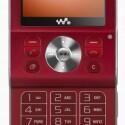 Auch in Rot erhältlich - Sony Ericsson W910i