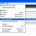 """Im Browserfenster finden Sie im Menü """"Extras"""" das Untermenü """"Opera Unity Server"""". Dort müssen Sie auf den Menüeintrag """"Opera Unite aktivieren"""" klicken."""