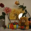Zimmerbeleuchtung ein, Blitz aus: ISO 125, Blende 3.5, 1/20 Sekunde.