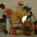 Zimmerbeleuchtung ein, Blitz aus: ISO 1600, Blende 4.5, 1/250 Sekunde.