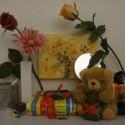 Zimmerbeleuchtung ein, Blitz aus: ISO 3200, Blende 4.5, 1/500 Sekunde.
