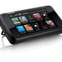 Der Bildschirm reagiert auf Berührung. Alternative Eingabemethode ist die ausziehbare QWERTZ-Tastatur. (Bild: Nokia)