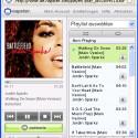 Bei Web-Nutzung von Napster spielt ein Mediaplayer die Songs ab.