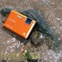 Wasser ist kein Problem für die Digitalkamera.