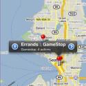 Auf einer Karte zeigt OmniFocus alle schnell erreichbaren Orte eingetragener Aufgaben an.