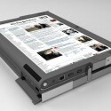 Ein hoher Tablet-PC, der zum Lesen von Zeitungen einlädt und ein extra E-Book-Lesegerät überflüssig macht.