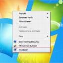 Der Rechtsklick auf dem Desktop bringt das Kontextmenü zum Vorschein.