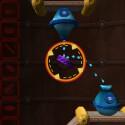 Im dreidimensionalen Puzzle-Spiel Enigmo muss der Spieler Flüssigkeiten von einem Gefäß in das nächste leiten und physikalische Gesetzmäßigkeiten beachten.