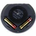 Mit zwei AA-Batterien ist das bewegliche Stativ unabhängig von Steckdosen.