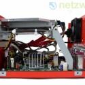 Die Kühlung des Chipsatzes erfolgt aktiv, der Prozessor hingegen wird passiv gekühlt.