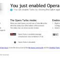 Mit Opera Turbo werden Webseiten auf einem Opera-Server vor der Darstellung komprimiert.