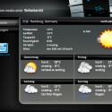 In Kooperation mit weather.com zeigt XBMC für drei individuell einstellbare Städte Wetterdaten an.