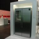 """Der Side-by-Side-Kühlschrank ist mit der mit der """"No Frost""""-Technik ausgestattet."""