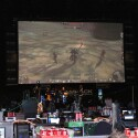 Die Live-Bühne mit Videoleinwand.