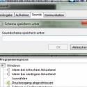 Das abgeänderte Soundschema übernimmt Windows 7 nach dem Speichern.