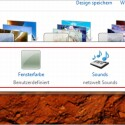 """Die vorgenommenen Änderungen an Hintergrund, Fensterfarbe, Sounds und Bildschirmschoner zeigt die Leiste am unteren Bildrand des """"Anpassen""""-Fensters."""