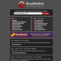 Passwörter mit BugMeNot.