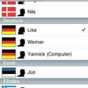 Die TomTom-App unterstützt die schrittweise Ansage der Route in vielen  verschiedenen Sprachen mit unterschiedlichen Stimmen.