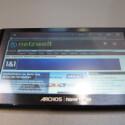 Das sieben Zoll große Display arbeitet mit einer Auflösung von 800 x 480 Pixeln und bietet die Unterstützung von Flash-Inhalten. Der Archos 7 bringt 350 Gramm auf die Waage.