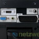 Die Anschlüsse im Detail: VGA, HDMI, Audio-In, Scart, Antenne, Kopfhörer.