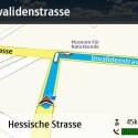 Ähnlich der üblichen Schritt-für-Schritt-Navigation führt die dreidimensionale Ansicht gut durch den Verkehr.