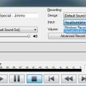 Nach dem Aktivieren des Aufnahmebuttons erfolgt die Aufnahme vollständig in einem Dialogfenster.