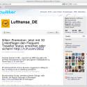 In Krisensituationen informiert die Lufthansa auch über Twitter.