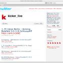 Das Kicker-Magazin twittert live die wichtigsten Spiele der Fussballwelt