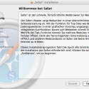 Nach der manuellen Installation von Safari 5 muss MacOS X neu starten.