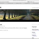 Das fertige Weblog enthält bei TwentyTen auch Drop-Down-Menüs zur Navigation.