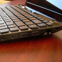 Audio-Anschlüsse, zwei USB 3.0-Anschlüsse und eine LAN-Schnittstelle.