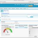 Das Dashboard zeigt Aufgaben und beinhaltet Chatter, einen Kurznachrichtendienst innerhalb des CRM.