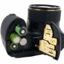 Strom liefern vier Akkus oder Batterien vom Typ AA.