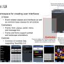 Die Oberfläche besteht aus Frames, Forms und Controls. (Bild: Samsung, Bada Dokumentation)