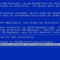 Praktisch ist, dass NetBSD die Größe der automatischen Partitionen dem Benutzer während der Installation exakt nennt.