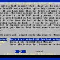Unverständlich ist, warum FreeBSD nicht als Standard ein Boot-Menü installiert, sondern das nur auf manuellen Wunsch tut.