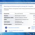Der Leistungstest von Windows 7 ergibt einen durchschnittlichen Wert von 1,8.