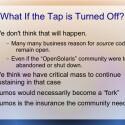 Man mag sich garnicht vorstellen, was bei einem Misserfolg von OpenSolaris passiert - aber genau dann könnte Illumos die Community von Oracle retten. (Bild: Illumos-Präsentation)