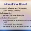 Das leitende Gremium, das wichtige Entscheidungen für Illumos trifft, ist das Administrative Council. (Bild: Illumos-Präsentation)