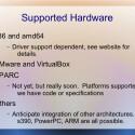 Neben x86 und x64 wird Illumos - wie Solaris - auch auf der SPARC-Plattform laufen. (Bild: Illumos-Präsentation)