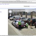 Google dokumentiert mit den StreetView-Autos, dass andere Fahrer offenbar nicht so brav auf der Straße unterwegs sind.