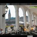 Sightwalk war in Deutschland schon lange vor Google Street View online. Panorama-Ansichten gibt es auch für Hamburg - etwa ein Blick auf die Alsterarkaden. Bild: Screenshot