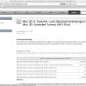 Das Apple-Betriebssystem verfügt über ein recht ausgereiftes eigenes Dateisystem mit Journaling-Funktion.