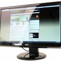 23 Zoll großer Monitor zeigt dank einer Bildwiederholrate von 120 Hertz räumliche Ansichten an.