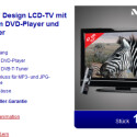 Einen LCD-Fernseher mit integrierten DVD-Player gibt es diese Woche für 189 Euro bei Aldi Nord.
