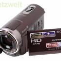 Camcorder mit GPS-Empfänger nimmt Full-HD-Videos auf.