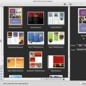 Auch Microsoft Word for Mac 2011 bietet eine umfangreiche Vorauswahl an Vorlagen. Ganz rechts zu sehen: Eine Ansicht, über die das Farbprofil angepasst werden kann. Bild: Screenshot
