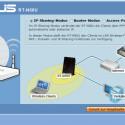 Ein Assistent hilft bei der Einrichtung: Zur Auswahl stehen der Betrieb im IP-Sharing-, Router- und Access-Point-Modus. Bild: netzwelt