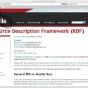 Mozilla arbeitet ebenfalls an der RDF-Unterstützung, u.a. auch für den Firefox-Browser.